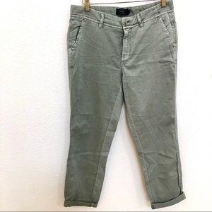 J Crew Chino Sz 4 Light Green Relaxed Womens Pants